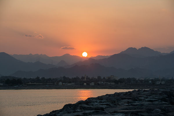 Sonnenuntergang in Bidya
