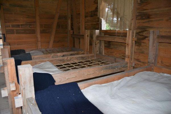 Oak Alley Plantage - Schlafkammer in der Sklavenhütte