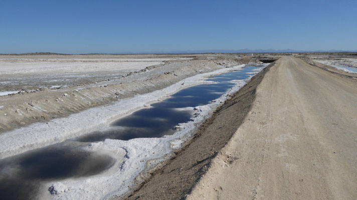 Salzgewinnung - Anfahrt Ojo Liebre