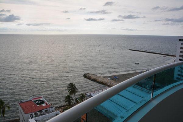 Blick von unserem Apartment in Cartagena/Bocagrande