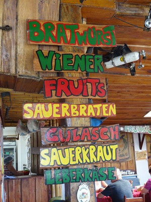 German bakery and food at Arenal lake