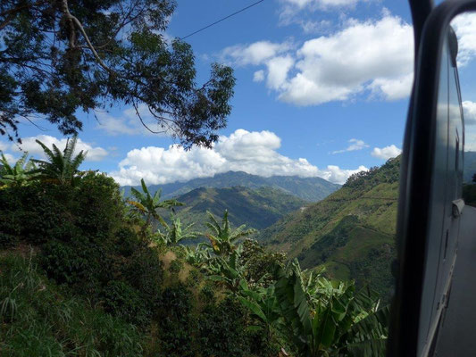 Picturesque landscape in Colombia