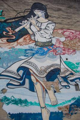 Wandmalerei in Sebes