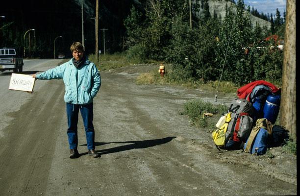 Auf dem Weg nach Skagway 1986