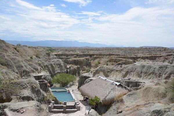 Die Wüste von Tatacoa und mittendrin ein Pool