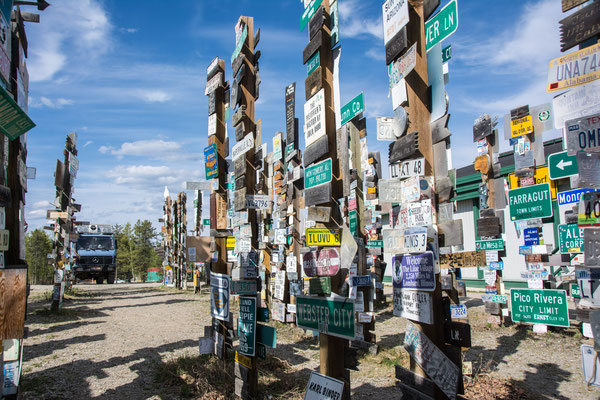 Watson Lake sign post