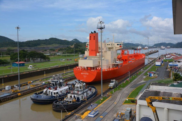 Panama Canal - Miraflores Locks on the Pacific side