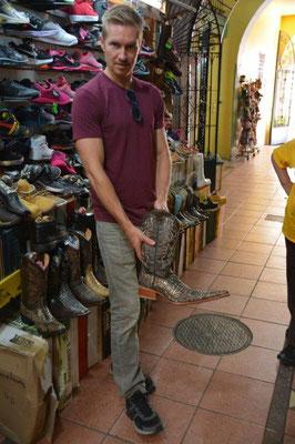 Josh needs new boots