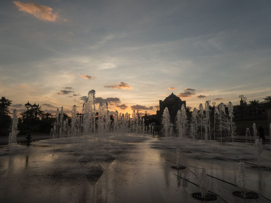 Sonnenuntergang am Emerates Palace