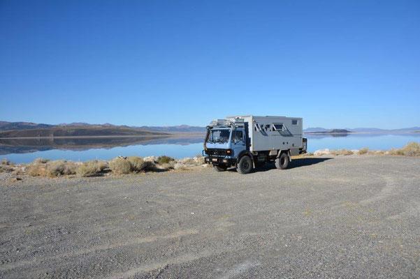 Unser Stellplatz am Mono Lake