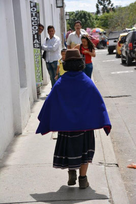 Traditional costume in Popayan