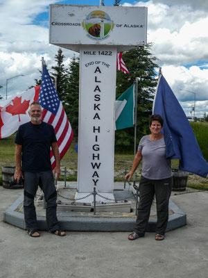 Ende des Alaska Highways