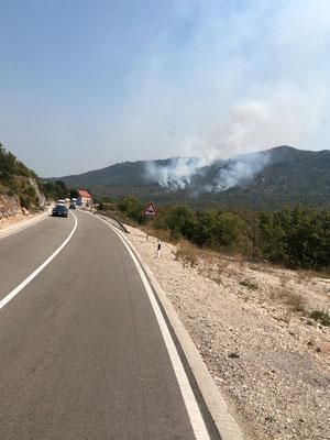 Waldbrände unterwegs