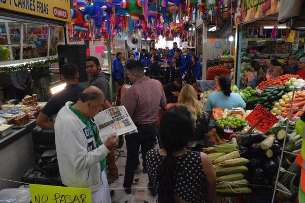 In der Markthalle von Mazatlan