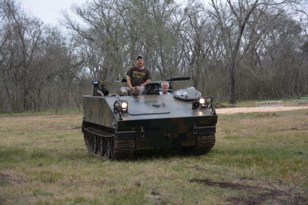 Driving a tank