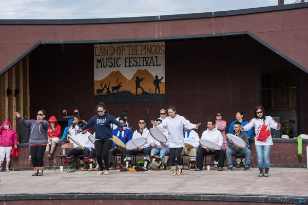 Fest zum Kanada Day am 1. Juli in Tuktoyaktuk