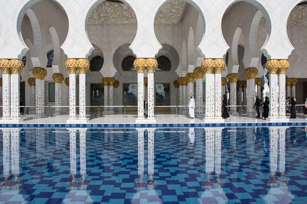 Die große Moschee in Abu Dhabi