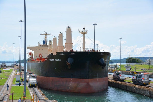 Panama Canal - Gatun Locks on the Atlantic side