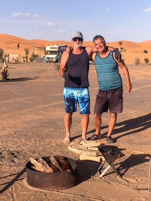 Campground in Merzouga