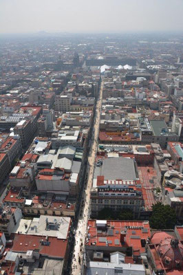 Sightseeing Tour in Mexiko-City - Blick vom Latino Americana Tower