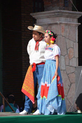 Celebrations for the Independance Day in Teotihuacan