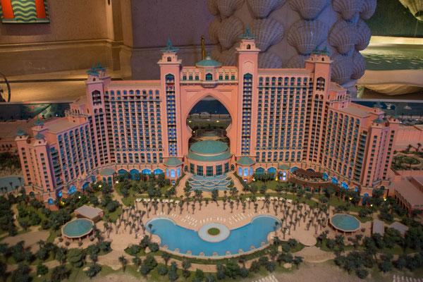 Modell vom Atlantis the Palm Hotel