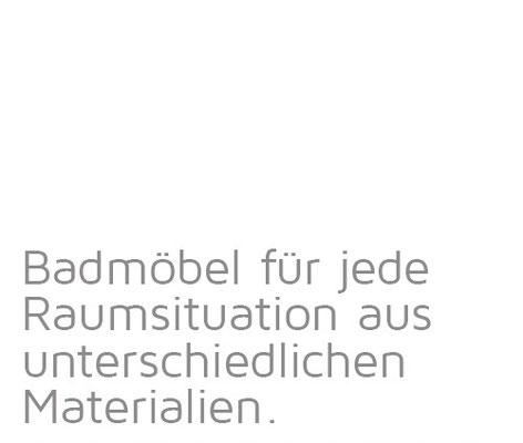 Tischlerei Vöge - Badmöbel für jede Raumsituation aus unterschiedlichen  Materialien.