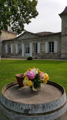 Chartreuse du Château La Hitte côté jardin clos