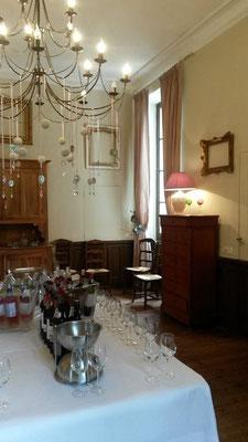 Salle à manger du château La Hitte en Gascogne