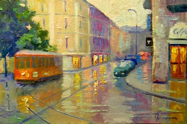 Milano - dipinto di Giuseppe Faraone