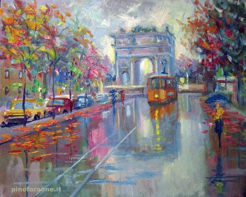Arco pace Milano , dipinto