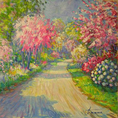 primavera fiorita - dipinto di giuseppe faraone
