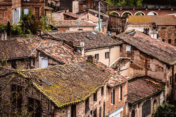 Gaillac : maisons au bord du Tarn
