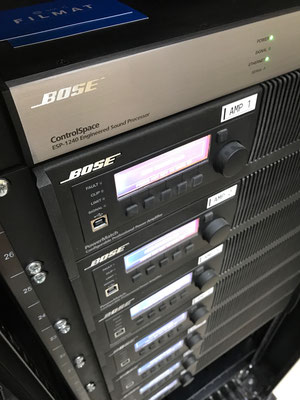 Amplificadores Bose PM8500 Network para line array Bose RoomMatch.