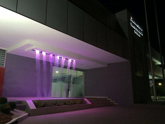 Cortinas de Agua con Show de Luces