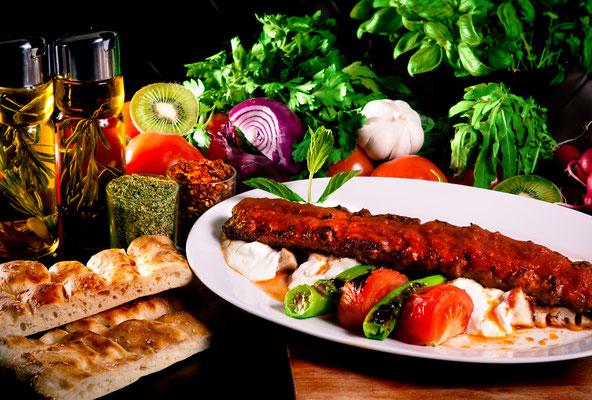 Adana Kebap mit Yoghurt