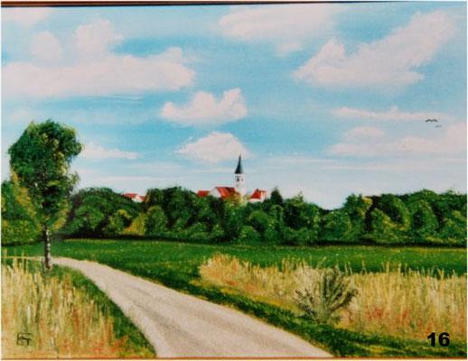 Nr.16 Westlicher Blick auf Dorfen. Format 30x40cm