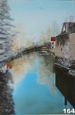 Nr.164 Winterliche Isen zw. Isenbrücke und B15. Format 40x60cm