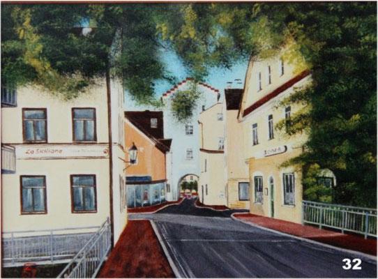 Nr.32 Dorfen Nördliche Ansicht Wesener Tor. Format 30x40cm