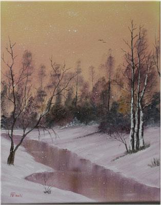 Nr.113 Magischer Schneefall. Format 40x50cm