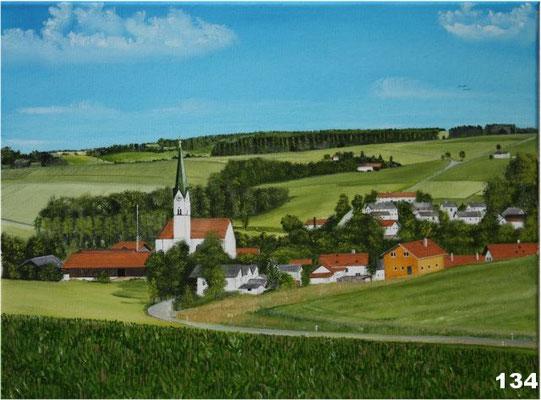 Nr.134 Schwindkirchen Blick nach Süden. Format 30x40cm