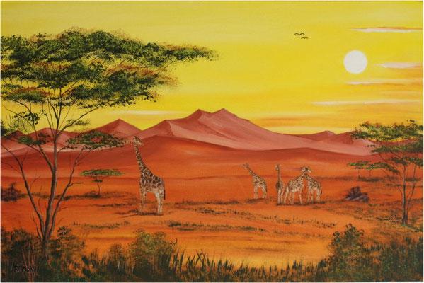 Nr.120 Heisses Afrika. Format 4060cm Breitkeilrahmen