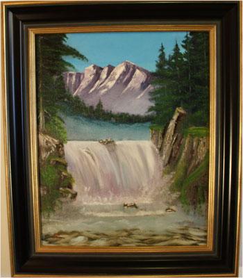 Nr.8 Großer Wasserfall. Format 40x50cm