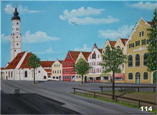 Nr.114 Dorfen. altes Postamt und Sparkasse. Format 30x40cm