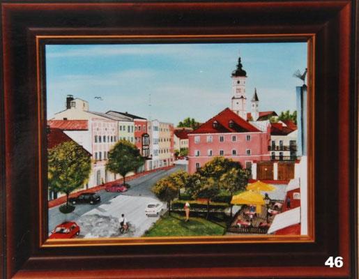 Nr.46 Dorfen Rathausplatz. Format 30x40cm