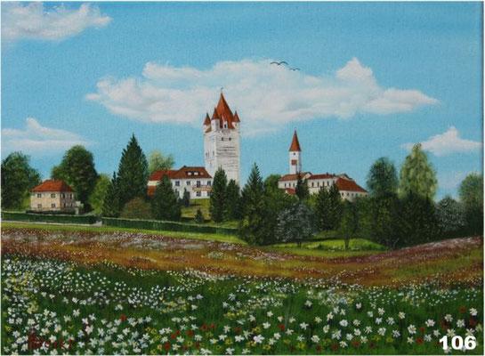 Nr.106 Haager Burg südl. Ansicht. Format 30x40cm