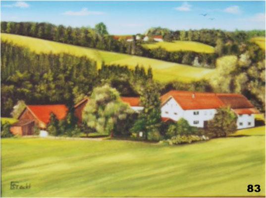 Nr.83 Brandstätt bei Hofgiebing. Format 30x40cm