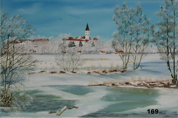 Nr.169 Blick von Breitwies zur Stadtkirche Dorfen. Format 40x60cm