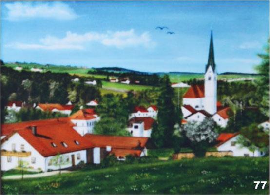 Nr.77 Schwindkirchen Blick vom Kreuzberg. Format 30x40cm
