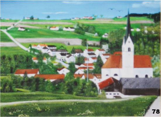 Nr.78 Schwindkirchen Blick ri. Gmain. Format 30x40cm